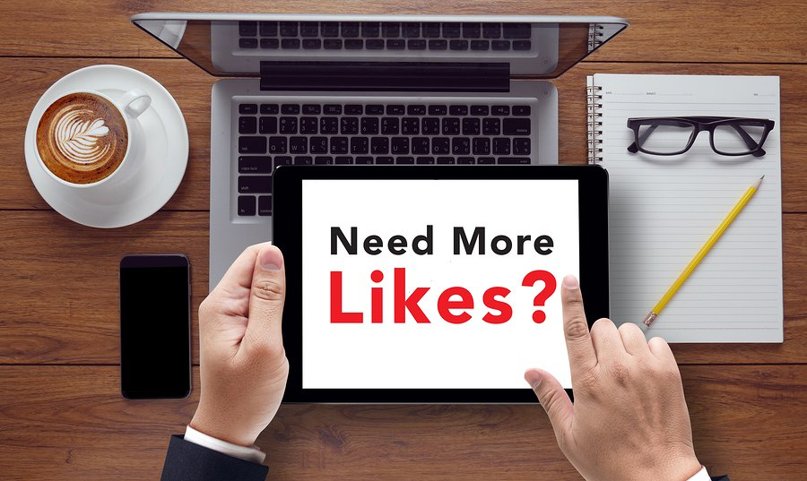 Bigstock Need More Likes Message On Ta 143950607