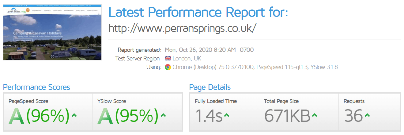 Page Speed Optimisation